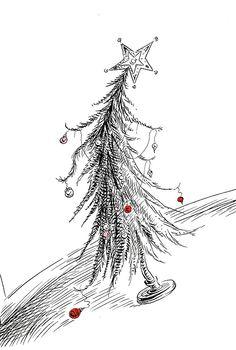 'how the grinch stole christmas' illustration, theodor geisel (dr. seuss)