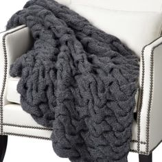 Summit Throw - Charcoal from Z Gallerie- This looks cozy :)