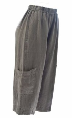 4ae2568e397dd BRYN WALKER Heavy Linen CASBAH PANT Crop Pocket Pants XS S M L XL 2017 FALL  Wide Pants