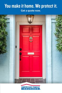 Looking for the right insurance policy for your first home? Tap the link to get a quote — at American Family Insurance, our door is always open. French Country Decorating, Doors, First Home, Beach House Decor, House Colors, Elegant Living Room Design, Elegant Living Room, Luxury House Designs, Exterior House Color