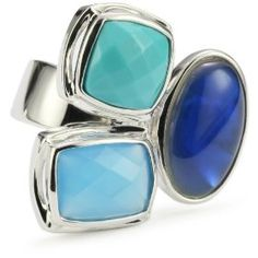 ELLE Jewelry MultiStone Sterling Silver Ring, Size 7 You save: $129.01          (59%) Current discount price: $89.99 - cute, but a bit too expensive :)