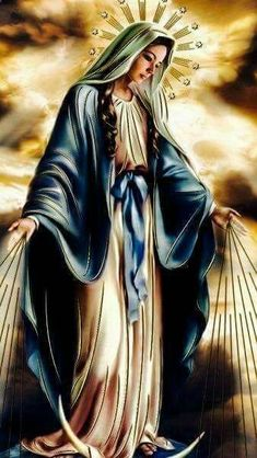 Thank you Mother Mary. Pictures Of Jesus Christ, Religious Pictures, Religious Icons, Religious Art, Blessed Mother Mary, Blessed Virgin Mary, Jesus Mother, Catholic Religion, Catholic Art