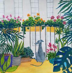 guache illustration Plant Painting, Guache, Happy Monday, Create, Illustration, Plants, Instagram, Illustrations, Flora