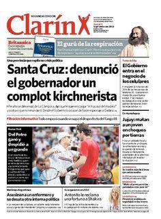Santa Cruz: el gobernador denunció un complot kirchnerista. Más información: http://www.clarin.com/politica/gobernador-Santa-Cruz-denuncio-complot_0_769123112.html