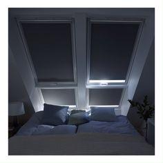 Discover the VELUX blinds and shutters range Loft Room, Bedroom Loft, Bedroom Storage, Bedroom Decor, Bedroom Ideas, Cinema Room Small, Home Cinema Room, Blinds For Velux Windows, Store Velux