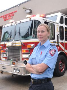 women Firefighter Rescue Images | Rescue Services' Lieut. Carla Penman is the first female firefighter ...