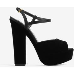 dsquared2 dsquared2 Ziggy Sandals (1 110 PLN) ❤ liked on Polyvore featuring shoes, sandals, black, platform sandals, black platform sandals, high heel shoes, platform shoes and black suede shoes