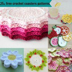 25 free crochet coasters patternsby jennyandteddy ~ free pattern