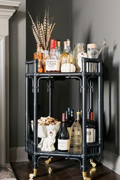 Bar cart styling ideas with new Nate Berkus for Target additions, @waitingonmartha #sponsored #mynateberkus