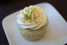 Pistachio cupcakes with Honey Vanilla buttercream! {recipe}