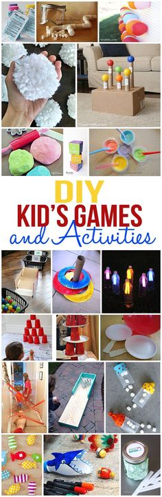 Diy Crafts : Illustration Description So many fun kids games and activities for you to create and play with your kids! Crafting is just…Fun! Fun Activities For Toddlers, Fun Activities For Kids, Indoor Activities, Preschool Activities, Indoor Games, Family Activities, Games To Play With Kids, Projects For Kids, Diy For Kids