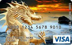 Dragon Gift Card Custom Gift Cards, Visa Gift Card, Wrapping, Lion Sculpture, Dragon, Fun, Dragons, Gift Packaging, Hilarious