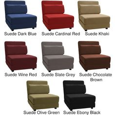 @Overstock - Featuring four positions and a variety of color options, this versatile futon chair bed conveniently brings comfort while matching any decor. Its kid- and pet-proof faux microfiber suede covering also makes it a long-lasting addition to any room.http://www.overstock.com/Home-Garden/Cosmopolitan-Click-Clack-Convertible-Futon-Chair-Bed/5221786/product.html?CID=214117 $211.49