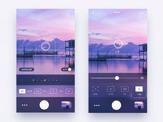 Photo Camera iOS app by Gleb Kuznetsov✈ - Dribbble Ios App Design, Iphone App Design, Mobile App Design, Interface Design, User Interface, Ux Design, Graphic Design, Wireframe, Mobile App Ui