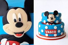 Mickey Blue Cake. Love this one. Like the simplicity and blue for a change. (Vasco)