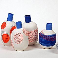 Jean-Marc Fondimare and Eric Hibelot, A. L'Atelier des Garçons Ceramic Plates, Ceramic Pottery, Ceramic Painting, Ceramic Art, Honey Packaging, Ceramic Texture, Paperclay, Bottle Vase, Modern Ceramics