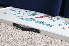 DIY Under-bed Puzzle Storage