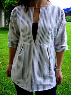 This really is one of my all time favorite go to patterns. The shirt is comfortable. I like matching fabrics to the shirts I have. Most of a...