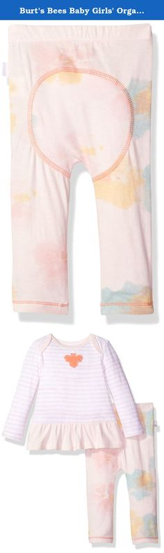 Burt's Bees Baby Girls' Organic Long Sleeve Dress and Pant Set, Dawn, 0-3 Months. Our 100 percent organic cotton dress and pant set is perfect for an adventurous yet stylish spring day. The set includes a lap shoulder dress with bee applique and an adorable matching floral pant.