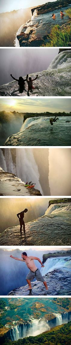 When you're really looking to get your heart racing, take a trip to Devil's Pool.  Crowned the most dangerous pool in the world, the Devil's Pool has become a hot spot for tourists all around the globe. The naturally formed body of water is located at the edge of Victoria Falls on Livingstone Island, Zambia.