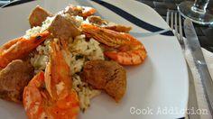 Carne de porco com camarão