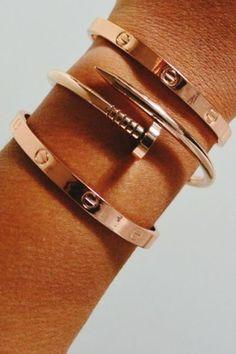 Rose Gold Oval Bracelet
