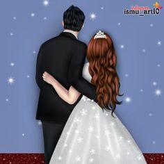 Love Cartoon Couple, Cute Couple Art, Cute Couples, Girly Drawings, Couple Drawings, Love Drawings, Lovely Girl Image, Girls Image, Sarra Art