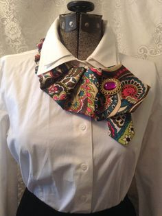 Recycled Men's Necktie with Brooch by RubyLeesTrunk on Etsy