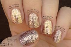 Finger Paints Crystalline Crush comparison Maybelline Gilded Rose