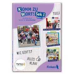 """""""Komm zu Wort! Sek 1"""" unterstützt Jugendliche beim Start in die deutsche Sprache. Der zweite Band knüpft sprachlich und thematisch an """"Komm zu Wort! Sek 1, Band 1"""" an und baut auf den gewonnenen Grundkenntnissen auf.   Mithilfe des Hörstiftes (TING oder BOOKii) wird der Wortschatz wiederholt und thematisch erweitert. Die Texte werden länger und enthalten im Satzbau auch schwierigere grammatikalische Strukturen, wie z. B. Akkusativ- und Dativ-Ergänzungen. Akkusativ, Dativ, Band, Cover, Books, Sentence Building, German Language, Communication, Young Adults"""
