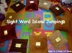 Mom to 2 Posh Lil Divas: Playing to Learn: Sight Word Island Jumping