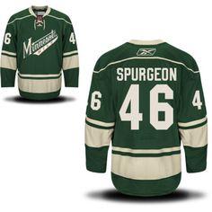Minnesota Wild 46 Jared Spurgeon Third Jersey - Green Minnesota Wild Hockey b6e164593