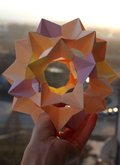 Origami paper ball - Kusudama Electra