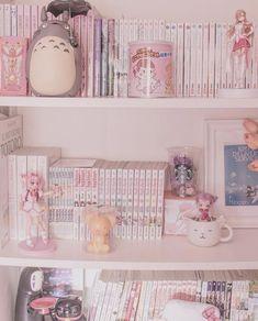 Girl Bedroom Designs, Room Ideas Bedroom, Bedroom Decor, Cute Room Ideas, Cute Room Decor, Kawaii Bedroom, Pastel Room, Game Room Design, Gamer Room