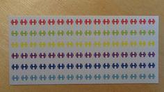 colorful small dumbbell - sticker #FitnessStudio #sport #ErinCondren #Filofax #sticker #icon #stickers #planner #indoor #organizer