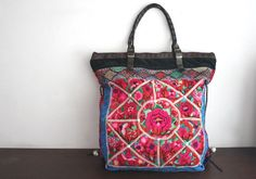 Oversized tote  Ethnic / Hip / Tribal / Hmong / by dazzlinglanna, 235.00
