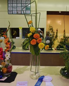 Iowa State Fair 2013 - Blooms a Plenty - using a glass vase