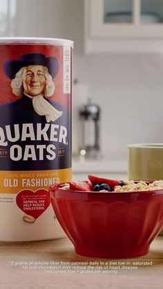 Quaker Oats, the Grain of All Time, has been a trusted superfood for over 140 years. Add to your morning routine. Heart-healthy* and provides lasting energy. Perfect for fall recipes. And at cents per day, it's light on the wallet. Old Fashioned Oatmeal, Old Fashion Oats, Cream Sauce Recipes, Dessert Drinks, Desserts, Oats Recipes, Granola Bars, Breakfast Recipes, Breakfast Ideas