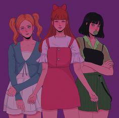 Cartoon As Anime, Cartoon Shows, Girl Cartoon, Powerpuff Girls Costume, Powerpuff Girls Wallpaper, Ppg And Rrb, Disney Princess Drawings, Drawings Of Friends, Fanart
