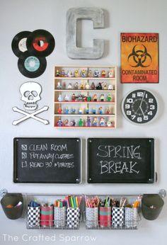 Boys Room Art/Homework Station