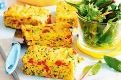 This easy, savoury slice is the perfect way to incorporate more vegetables into your meal. The tasty egg, bacon and cheese will keep the kids coming back for more.