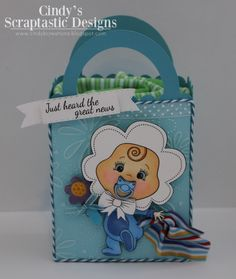 Cindy's Scraptastic Designs: Peachy Keen The Release Party! Pretty Drawings, Beautiful Drawings, Treat Bags, Gift Bags, Peachy Keen Stamps, Cute Clipart, Firs, Baby Shower, Cute Cards