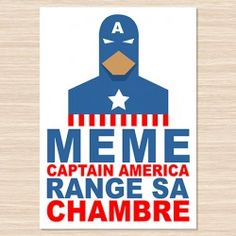 Affiche décorative Captain America