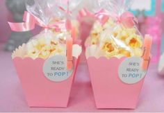 Popcorn boxes with mini clothes pins! Cuteness! Theflairfactor.com