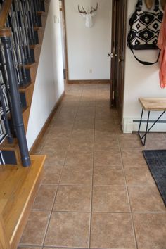 Paint Ceramic Tile Floor To Look Like Wood - Best Ceramic In 2018 Stenciled Concrete Floor, Tile Floor Diy, Painted Concrete Floors, White Wood Floors, Paint Cement, Cement Tiles, Mosaic Tiles, Wall Tiles, Painting Ceramic Tile Floor