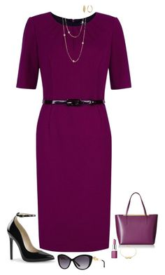 """Purple & black"" by julietajj on Polyvore featuring Ted Baker, Precis Petite, Nordstrom Rack, Clinique, Taylor Black, Diane Von Furstenberg and Versace"
