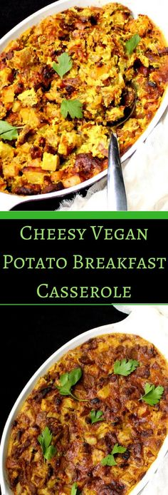 Cheesy Vegan Breakfast Potato Casserole - holycowvegan.net