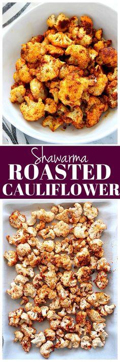 Shawarma Roasted Cauliflower Recipe - delicious cauliflower tossed in shawarma seasoning and roasted to perfection.