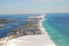 El Matador In The Foreground Okaloosa Island Seen From West Fort Walton Beach Floridadestin