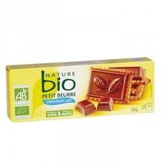 NATURE BIO Petits beurre chocolat au lait Boite de 12 - 150g - Finistère, France